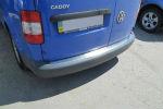 Накладка с загибом на задний бампер для Volkswagen Caddy III 2004+ (Alu-Frost, 25-3455)