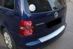 Накладка с загибом на задний бампер для Volkswagen Touran 2003-2007 (Alu-Frost, 25-3456)