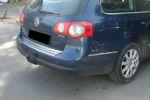 Накладка с загибом на задний бампер для Volkswagen Passat B6 Variant 2006-2010 (Alu-Frost, 25-3458)