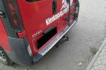 Накладка с загибом на задний бампер для Opel Vivaro 2001-2014 (Alu-Frost, 25-3460)