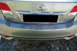 Накладка с загибом на задний бампер для Toyota Avensis III Combi 2009+ (Alu-Frost, 25-3469)