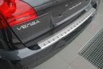 Накладка с загибом на задний бампер для Kia Venga 2010+ (Alu-Frost, 25-3478)