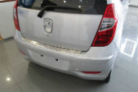Накладка с загибом на задний бампер для Hyundai i10 (5D) 2008+ (Alu-Frost, 25-3489)