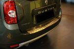Накладка с загибом на задний бампер для Renault Duster 2010+ (Alu-Frost, 25-3499)