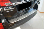 Накладка с загибом на задний бампер для Subaru Outback 2009+ (Alu-Frost, 25-3604)