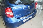 Накладка с загибом на задний бампер для Nissan Micra IV (5D) 2010+ (Alu-Frost, 25-3623)