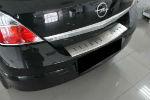 Накладка с загибом на задний бампер для Opel Astra H (5D) 2004-2009 (Alu-Frost, 25-3637)