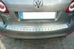 Накладка с загибом на задний бампер для Volkswagen Golf VI Plus 2009+ (Alu-Frost, 25-3650)