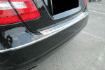 Накладка с загибом на задний бампер для Mercedes-Benz E-Class (W212) 2009+ (Alu-Frost, 25-3663)