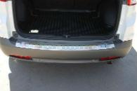 Накладка с загибом на задний бампер для Honda CR-V IV 2013+ (Alu-Frost, 25-3986)