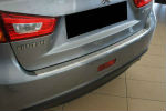 Накладка с загибом на задний бампер для Mitsubishi ASX (FL) 2013+ (Alu-Frost, 25-3989)