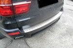 Накладка с загибом на задний бампер для BMW X5 (E70) 2006-2010 (Alu-Frost, 25-4001)
