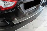 Накладка с загибом на задний бампер для Suzuki SX4 2013+ (Alu-Frost, 25-4004)