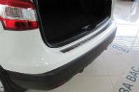 Накладка с загибом на задний бампер для Nissan Qashqai II 2014+ (Alu-Frost, 25-4009)