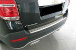 Накладка с загибом на задний бампер для Chevrolet Captiva II 2012+ (Alu-Frost, 25-4014)
