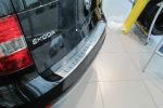 Накладка с загибом на задний бампер для Skoda Yeti (FL) 2014+ (Alu-Frost, 25-4016)