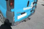 Накладка с загибом на задний бампер для Opel Vivaro 2001-2014/Renault Trafic/Nissan Primastar (Alu-Frost, 50-3460)