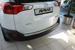Накладка с загибом на задний бампер для Toyota Rav4 2013+ (Alu-Frost, 50-3993)