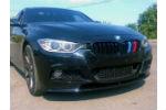Накладка на передний M бампер для BMW 3 Series (F30) 2012+ (LERRIUM, BL191 182-015)