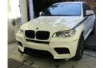 Накладка на передний M бампер для BMW X6 (E71) 2008+ (LERRIUM, BL191 182-018)