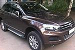 Боковые пороги Saphire V1 для Volkswagen Touareg 2010- (Can-Otomotive, VWTU.SAPHV1.47.4518)
