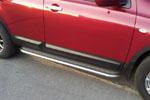 Боковые пороги с листом Nissan Qashqai 2006- (UAtuning, NIS.0022)