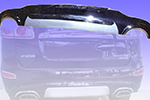 Накладка на задний бампер Hyundai Santa Fe 2006- (EJ, C050215A2)