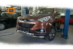 Защита переднего бампера (Shark, D60) для Hyundai IX-35 2009-2015 (Can-Otomotiv, HYIX.33.1244)