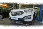 Защита переднего бампера (двойная, D60) для Hyundai Santa Fe 2012+ (Can-Otomotiv, HYSA.33.1200)