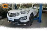 Защита переднего бампера (одинарная, D60) для Hyundai Santa Fe 2012+ (Can-Otomotiv, HYSA.33.1201)