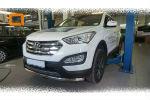 Защита переднего бампера (одинарная, D60) для Hyundai Grand SantaFe 2013+ (Can-Otomotiv, HYSA.33.1202)