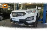 Защита переднего бампера (двойная, D60) для Hyundai Grand SantaFe 2013+ (Can-Otomotiv, HYSA.33.1203)