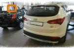 Защита заднего бампера (одинарная, D60) для Hyundai Santa Fe 2012+ (Can-Otomotiv, HYSA.57.1202)