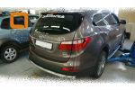 Защита заднего бампера (одинарная, D60) для Hyundai Grand SantaFe 2013+ (Can-Otomotiv, HYSA.57.3997)
