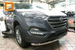 Защита переднего бампера (одинарная, D60) для Hyundai Tucson 2015+ (Can-Otomotiv, HYTU.33.1231)