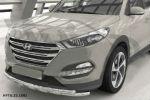 Защита переднего бампера (Shark, D60) для Hyundai Tucson 2015+ (Can-Otomotiv, HYTU.33.1501)