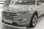 Защита переднего бампера (одинарная, D75) для Hyundai Tucson 2015+ (Can-Otomotiv, HYTU.33.1502)