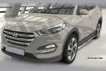 Боковые пороги для Hyundai Tucson 2015+ (Can-Otomotive, HYTU.43.1506)