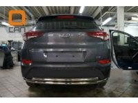 Защита заднего бампера (двойная, D60) для Hyundai Tucson 2015+ (Can-Otomotiv, HYTU.55.1242)