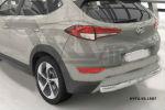 Защита заднего бампера (одинарная, D75) для Hyundai Tucson 2015+ (Can-Otomotiv, HYTU.55.1507)