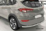 Защита заднего бампера (одинарная, D60) для Hyundai Tucson 2015+ (Can-Otomotiv, HYTU.55.1508)