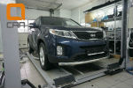 Защита переднего бампера (одинарная, D60) для Kia Sorento 2012-2014 (Can-Otomotiv, KISO.33.1380)