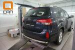 Защита заднего бампера (одинарная, D60) для Kia Sorento 2012-2014 (Can-Otomotiv, KISO.55.1383)