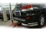 Защита заднего бампера (уголки, D76/42) для Lexus LX570 Sport 2014-2015 (Can-Otomotiv, LE57.53.1573)