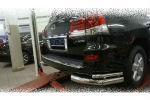 Защита заднего бампера (уголки, D76/42) для Lexus LX570 2014-2015 (Can-Otomotiv, LE57.53.1577)