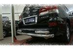 Защита заднего бампера (двойная, D76/60) для Lexus LX570 2014+ (Can-Otomotiv, LE57.55.1576)