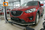 Защита переднего бампера (одинарная, D42) для Mazda CX-5 2012+ (Can-Otomotiv, MAC5.33.0117)