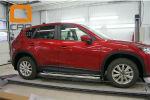 Боковые пороги (с листом) для Mazda CX-5 2012+ (Can-Otomotive, MAC5.45.0116)