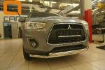Защита переднего бампера (двойная, D60) для Mitsubishi ASX 2012+ (Can-Otomotiv, MIAS.33.6008)