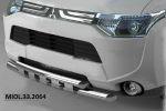 Защита переднего бампера (Shark, D60) для Mitsubishi Outlander 2012-2015 (Can-Otomotiv, MIOL.33.2064)